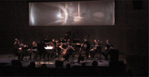 Ensemble Itineraire playing Cuatro Escenas Negras at Ircam