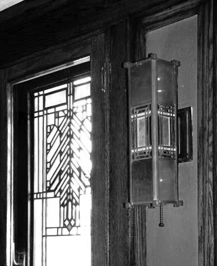 Darwin D. Martin House interior, Frank Lloyd Wright, 1905