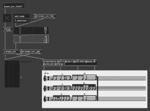 one of the engine remodeling the voice's prosody onto a generated rhythmic grid _ Olivier Pasquet _2021