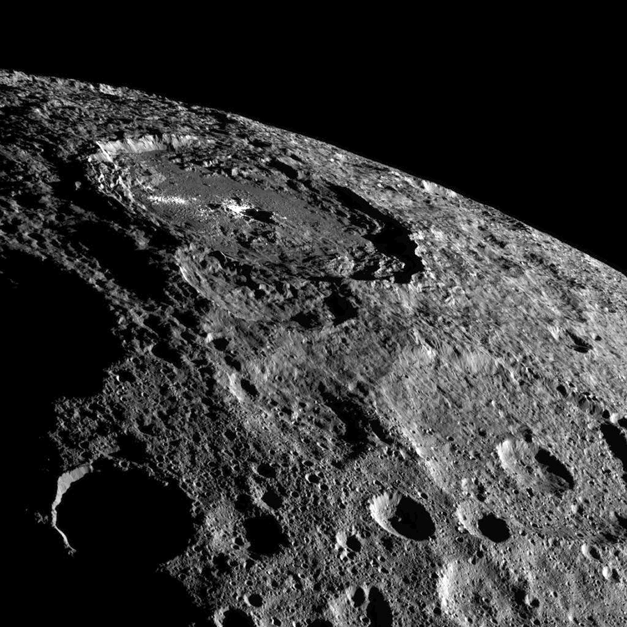 Occator Crater, home of Ceres